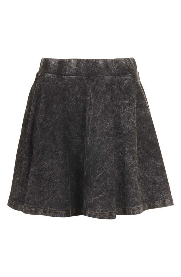 Alternate Image 3  - Topshop Moto Acid Wash Denim Skater Skirt