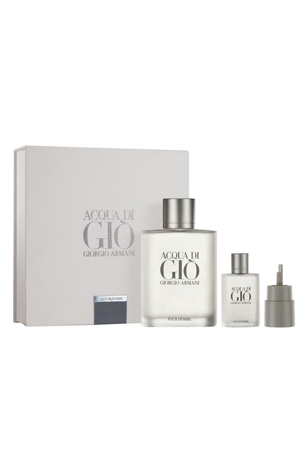 Alternate Image 1 Selected - Giorgio Armani 'Acqua di Giò pour Homme' Refill Set ($370 Value)