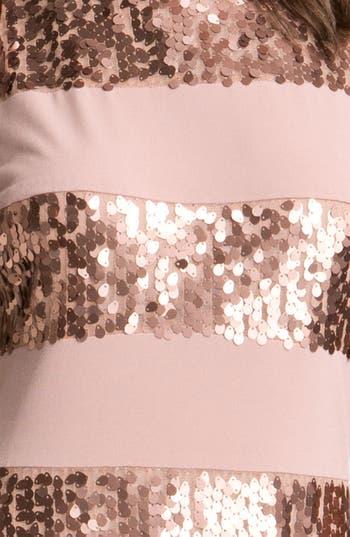 Alternate Image 3  - Donna Ricco Sleeveless Stripe & Sequin Dress