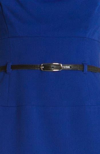 Alternate Image 3  - Black Halo 'Jackie' Belted Gabardine Sheath Dress