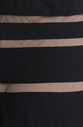 Alternate Image 3  - Xscape Mesh Stripe Fit & Flare Dress (Plus Size)