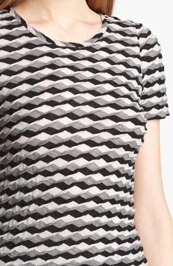 Alternate Image 3  - Armani Collezioni Geometric Wave Knit Jersey Top