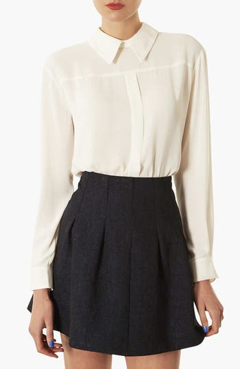 Alternate Image 1 Selected - Topshop Button Back Blouse
