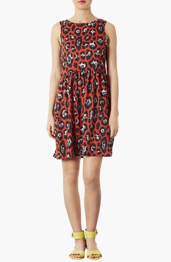 Alternate Image 1 Selected - Topshop Leopard Print Skater Dress