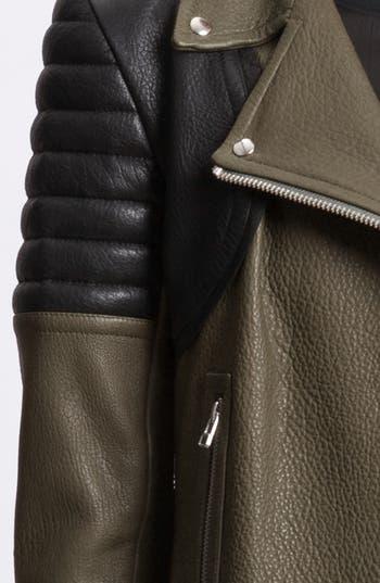 Alternate Image 3  - Faith Connexion Mixed Leather Jacket