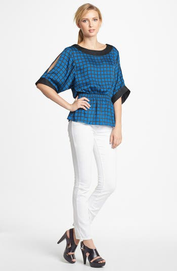 Alternate Image 2  - MICHAEL Michael Kors Smocked Cold Shoulder Blouse
