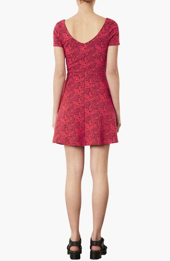 Alternate Image 2  - Topshop Jacquard Tunic Dress