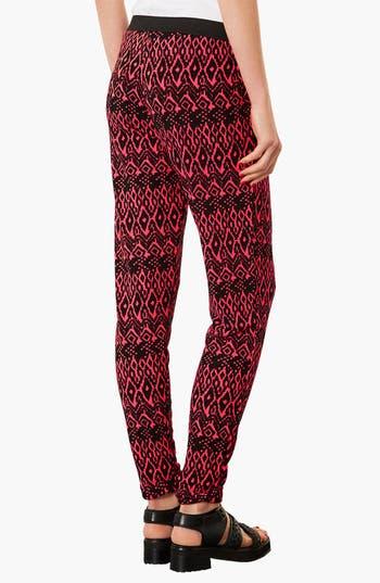 Alternate Image 2  - Topshop Diamond Pattern Jersey Trousers