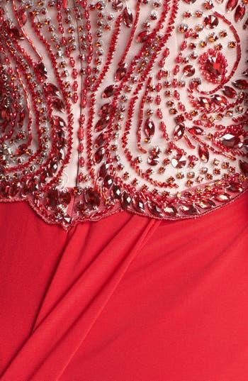 Alternate Image 3  - Sherri Hill Embellished Bodice Jersey Gown