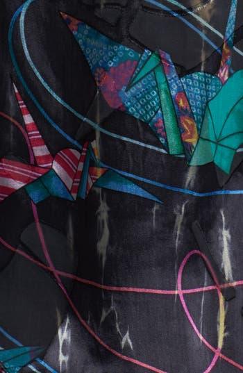 Alternate Image 3  - Citron Print Open Front Silk Blend Jacket (Plus Size)