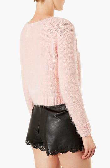 Alternate Image 2  - Topshop 'Monster' Fluffy Crop Sweater