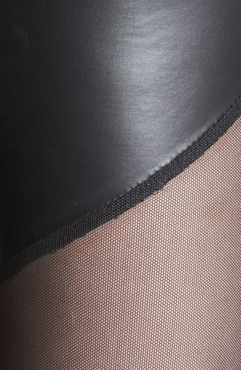 Alternate Image 3  - Lush Mesh Inset Faux Leather Leggings (Juniors) (Online Only)