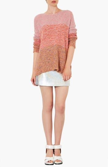 Alternate Image 4  - Topshop 'Lulu' Ombré Marled Sweater