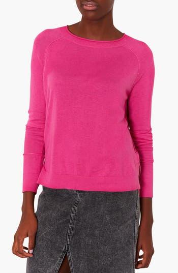 Main Image - Topshop Raglan Sleeve Knit Sweater