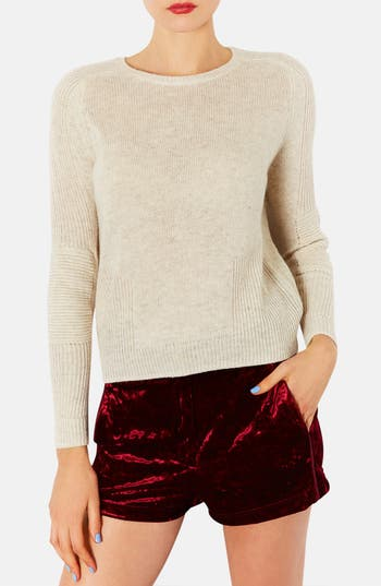 Alternate Image 1 Selected - Topshop Mixed Knit Sweater