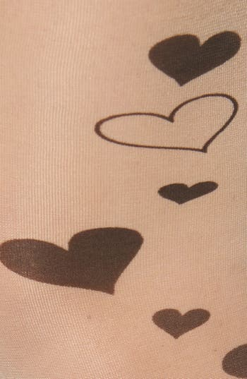 Alternate Image 2  - BP. 'Kitty & Heart Tattoo' Tights (Juniors)