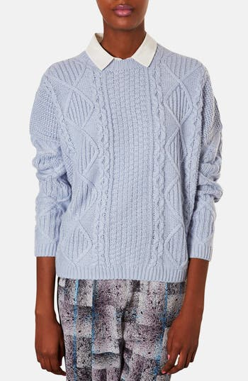 Alternate Image 1 Selected - Topshop Cable Knit Sweater