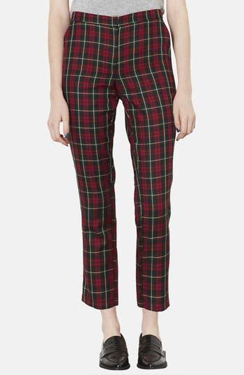 Alternate Image 1 Selected - Topshop Plaid Crop Trousers