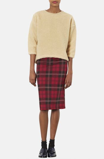 Alternate Image 4  - Topshop Plaid Tube Skirt (Regular & Petite)