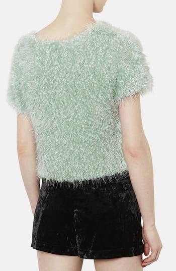Alternate Image 2  - Topshop Sparkling Textured Top