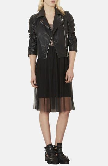 Alternate Image 4  - Topshop Metallic Bodice Jersey & Tulle Dress (Petite)