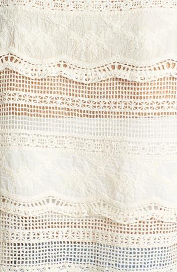 Alternate Image 3  - Mimi Chica Oversized Crochet Tee (Juniors)