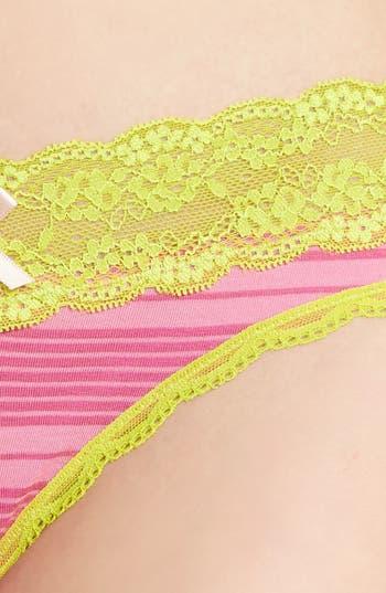 Alternate Image 3  - Honeydew Intimates 'Shadow Stripe' Lace Trim Thong