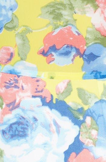 Alternate Image 3  - Paper Crane Contrast Panel Floral Skater Dress (Juniors) (Online Only)