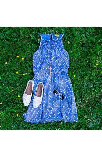 Alternate Image 5  - dee elle Polka Dot Smocked Skater Dress (Juniors)