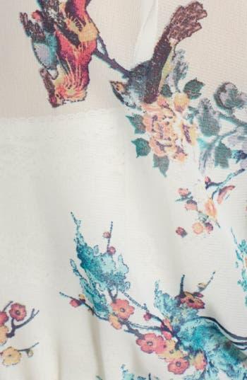 Alternate Image 4  - BP. Surplice Flutter Sleeve Babydoll Dress