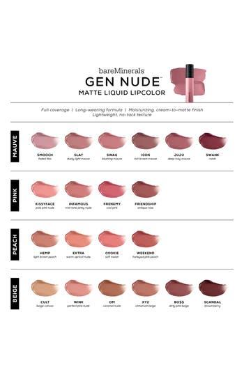 Alternate Image 2  - bareMinerals® Gen Nude™ Matte Liquid Lipcolor
