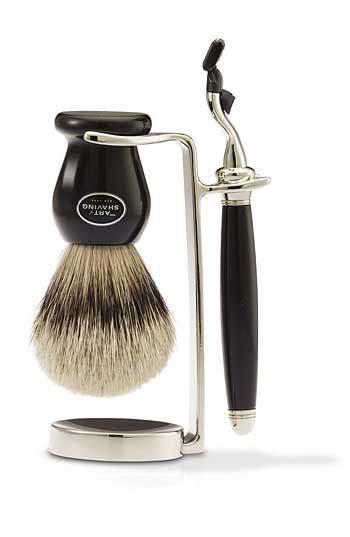 Alternate Image 1 Selected - The Art of Shaving® Nickel-Plated Classic Brush/Razor Stand