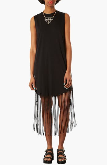 Main Image - Topshop Fringe Dress