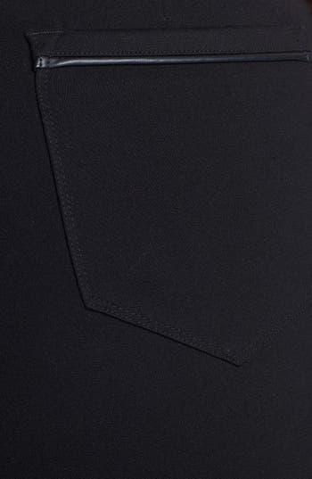 Alternate Image 3  - NYDJ Faux Leather Trim Stretch Ponte Pants (Plus Size)