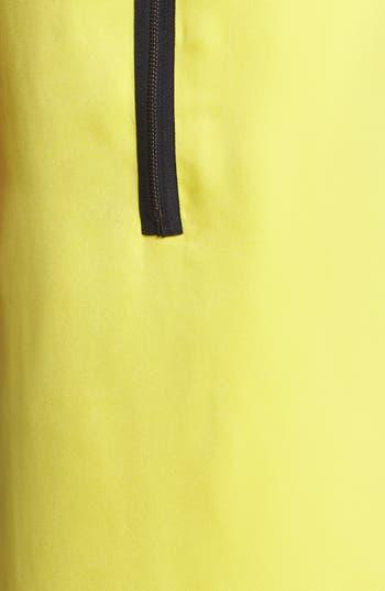 Alternate Image 3  - DKNYC Faux Leather Colorblock Shift Dress