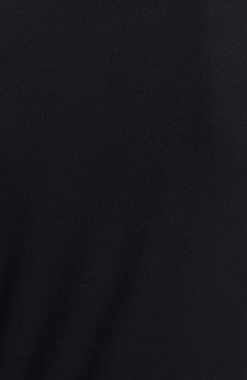 Alternate Image 3  - Everleigh Faux Leather Sleeve Tee (Petite)