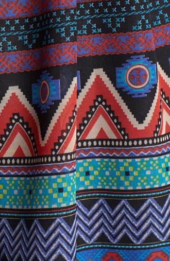 Alternate Image 3  - Band of Gypsies V-Neck Print Skater Dress (Juniors)