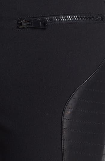 Alternate Image 5  - rag & bone 'Ilford' Leather Panel Pants