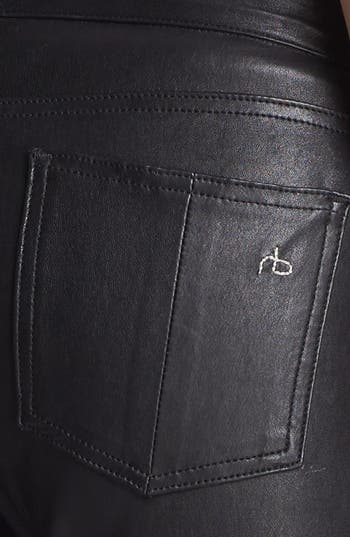 Alternate Image 6  - rag & bone/JEAN 'The Reverse' Leather Pants