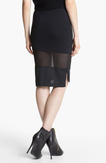 Alternate Image 2  - Tildon Mesh Mix Pencil Skirt