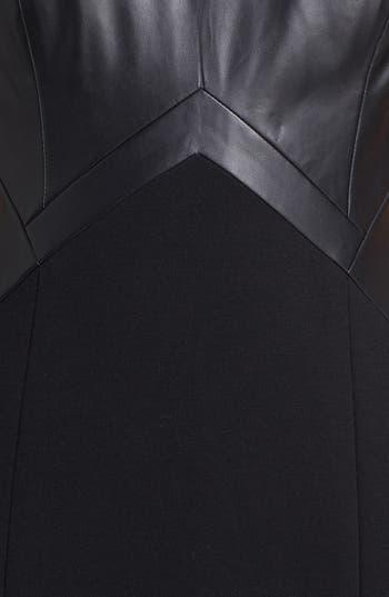 Alternate Image 3  - Aidan by Aidan Mattox Faux Leather Inset Sheath Dress