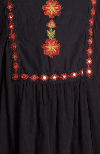 Alternate Image 3  - Free People 'Folk' Embroidered Cotton High/Low Dress