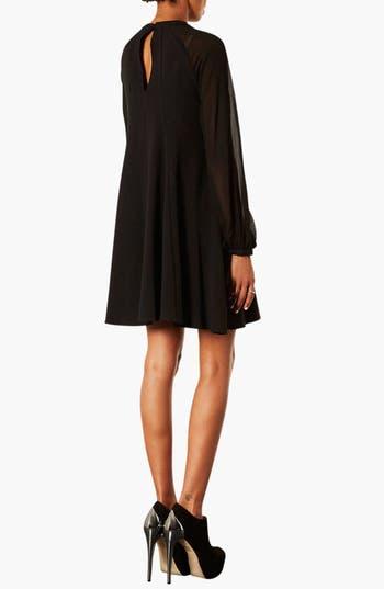 Alternate Image 2  - Topshop Illusion Sleeve Chiffon Dress