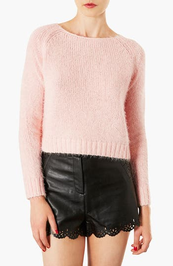 Main Image - Topshop 'Monster' Fluffy Crop Sweater