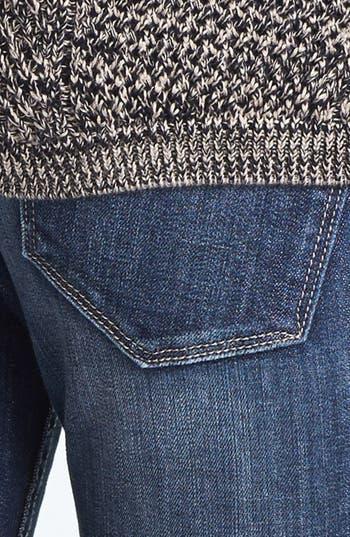 Alternate Image 4  - Vigoss Destroyed Skinny Jeans (Dark) (Juniors)