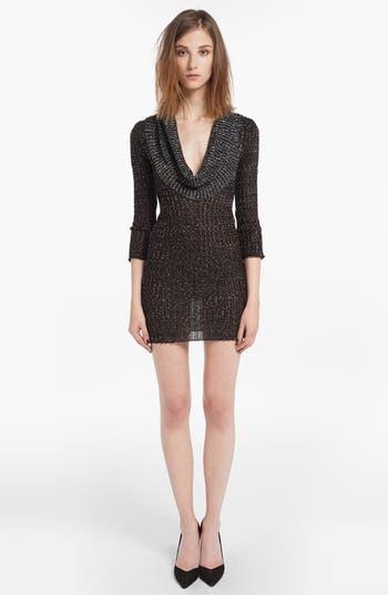 Main Image - maje 'Diversite' Metallic Sweater Dress