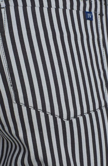 Alternate Image 3  - INSTANT VINTAGE Stretch Denim Stripe Skinny Jeans (Juniors)