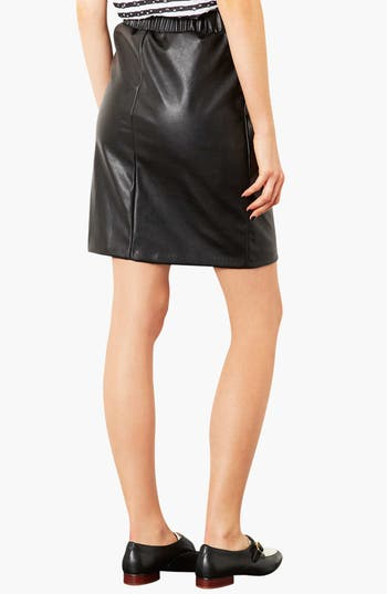 Alternate Image 2  - Topshop Elastic Waist Faux Leather Pencil Skirt