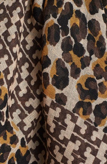 Alternate Image 2  - Tory Burch 'Panthra - Small T' Wool Scarf