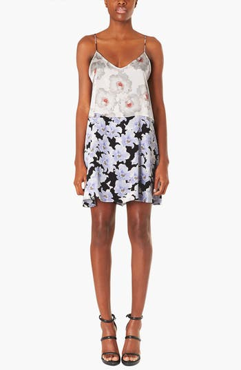 Main Image - Topshop Boutique Floral Satin Slipdress